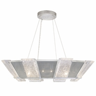 Fine Art Handcrafted Lighting 890640-12 Crownstone Contemporary Silver LED Pendant Lamp