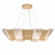 Fine Art Handcrafted Lighting 890640-22 Crownstone Contemporary Gold LED Hanging Light