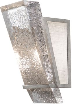 Fine Art Handcrafted Lighting 890750-11 Crownstone Contemporary Silver LED Wall Lamp