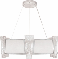 Fine Art Lamps 890840-11 Crownstone Contemporary Silver LED Drum Pendant Light Fixture