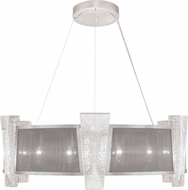Fine Art Lamps 890840-12 Crownstone Modern Silver LED Drum Pendant Lighting Fixture