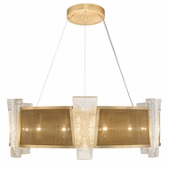 Fine Art Lamps 890840-22 Crownstone Modern Gold LED Drum Hanging Pendant Light