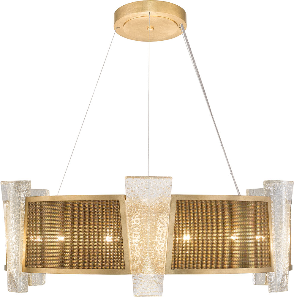 Fine art lamps 890840 22st crownstone modern gold 32 drum hanging pendant lighting loading zoom
