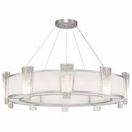 Fine Art Lamps 891040-11 Crownstone Modern Silver LED Drum Pendant Hanging Light
