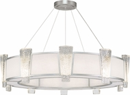 Fine Art Lamps 891040-11ST Crownstone Contemporary Silver 45  Drum Hanging Pendant Light