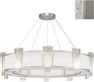 Fine Art Lamps 891040-12ST Crownstone Modern Silver 45  Drum Pendant Hanging Light