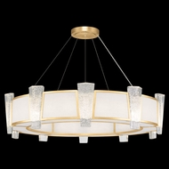 Fine Art Lamps 891040-21 Crownstone Contemporary Gold LED Drum Drop Lighting