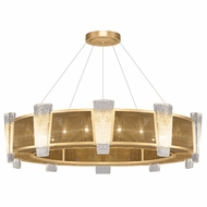 Fine Art Lamps 891040-22 Crownstone Modern Gold LED Drum Drop Ceiling Lighting