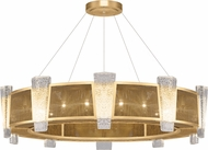 Fine Art Lamps 891040-22ST Crownstone Modern Gold 45  Drum Drop Lighting