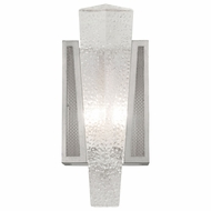 Fine Art Handcrafted Lighting 891150-12 Crownstone Contemporary Silver LED Lighting Sconce