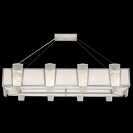 Fine Art Lamps 891240-11 Crownstone Contemporary Silver LED Kitchen Island Lighting