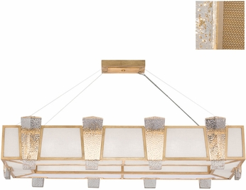 Fine Art Lamps 891240-22ST Crownstone Modern Gold Island Light Fixture