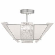 Fine Art Handcrafted Lighting 891340-11 Crownstone Modern Silver LED Ceiling Light Fixture