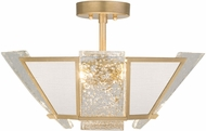 Fine Art Lamps 891340-21ST Crownstone Contemporary Gold Ceiling Lighting Fixture
