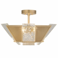 Fine Art Handcrafted Lighting 891340-22 Crownstone Contemporary Gold LED Overhead Lighting