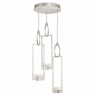 Fine Art Handcrafted Lighting 892940-1 Delphi Modern Silver LED Multi Drop Lighting Fixture