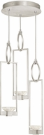 Fine Art Lamps 892940-1ST Delphi Contemporary Silver LED Multi Drop Ceiling Light Fixture
