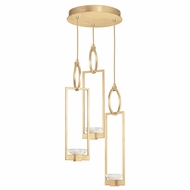 Fine Art Handcrafted Lighting 892940-2 Delphi Contemporary Gold LED Multi Pendant Lighting