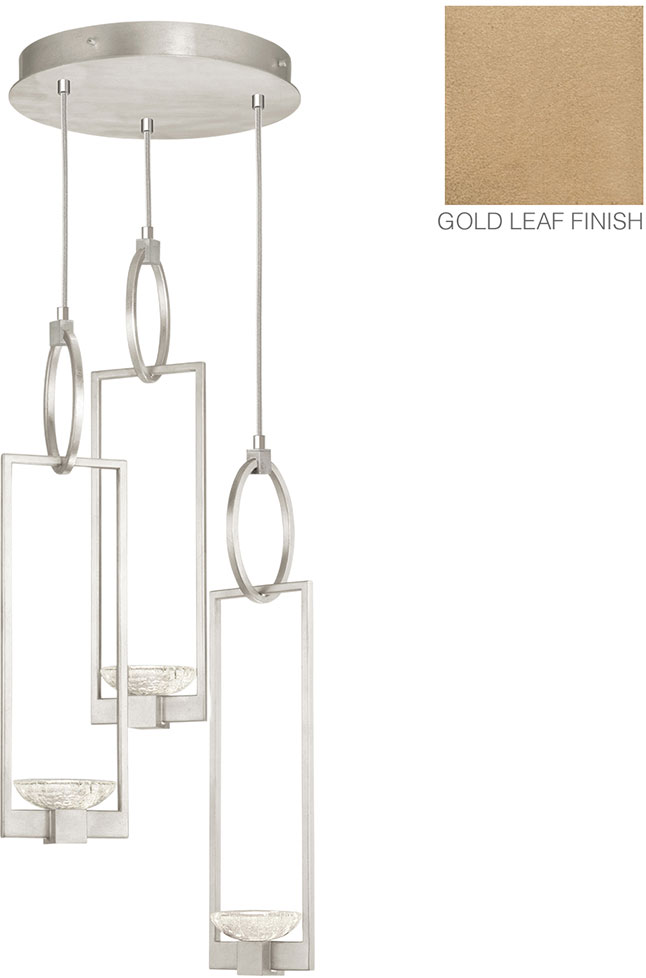Fine Art Lamps 892940 2ST Delphi Modern Gold LED Multi Drop Lighting  Fixture. Loading Zoom