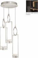 Fine Art Lamps 892940-3ST Delphi Contemporary Black LED Multi Pendant Lighting