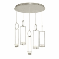 Fine Art Handcrafted Lighting 893040-1 Delphi Modern Silver LED Multi Lighting Pendant