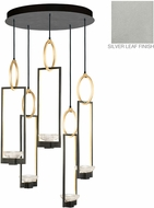 Fine Art Lamps 893040-1ST Delphi Modern Silver LED Multi Pendant Light