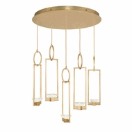 Fine Art Handcrafted Lighting 893040-2 Delphi Contemporary Gold LED Multi Pendant Lamp