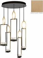 Fine Art Lamps 893040-2ST Delphi Contemporary Gold LED Multi Lighting Pendant