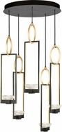 Fine Art Lamps 893040-3ST Delphi Modern Black LED Multi Pendant Lamp