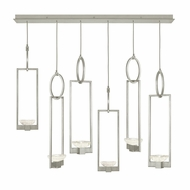 Fine Art Handcrafted Lighting 893140-1 Delphi Modern Silver LED Multi Hanging Light