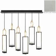 Fine Art Lamps 893140-1ST Delphi Contemporary Silver LED Multi Hanging Lamp