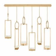 Fine Art Handcrafted Lighting 893140-2 Delphi Modern Gold LED Multi Pendant Light Fixture