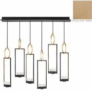 Fine Art Lamps 893140-2ST Delphi Modern Gold LED Multi Hanging Light