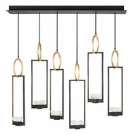 Fine Art Handcrafted Lighting 893140-3 Delphi Modern Black LED Multi Pendant Lighting Fixture