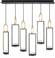 Fine Art Lamps 893140-3ST Delphi Contemporary Black LED Multi Pendant Light Fixture