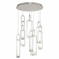 Fine Art Handcrafted Lighting 893240-1 Delphi Contemporary Silver LED Multi Hanging Pendant Lighting