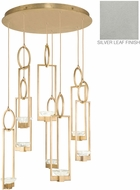 Fine Art Lamps 893240-1ST Delphi Modern Silver LED Multi Pendant Lighting Fixture