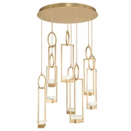 Fine Art Handcrafted Lighting 893240-2 Delphi Contemporary Gold LED Multi Hanging Pendant Light