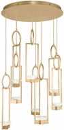 Fine Art Lamps 893240-2ST Delphi Contemporary Gold LED Multi Hanging Pendant Lighting