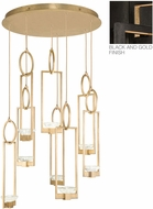 Fine Art Lamps 893240-3ST Delphi Modern Black LED Multi Hanging Pendant Light