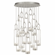 Fine Art Handcrafted Lighting 893440-1 Delphi Modern Silver LED Multi Hanging Light Fixture