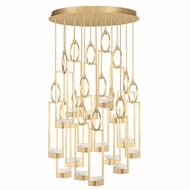 Fine Art Handcrafted Lighting 893440-2 Delphi Contemporary Gold LED Multi Drop Lighting