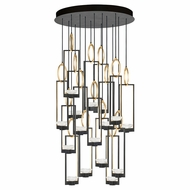 Fine Art Handcrafted Lighting 893440-3 Delphi Contemporary Black LED Multi Drop Ceiling Lighting