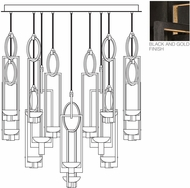 Fine Art Lamps 893440-3ST Delphi Modern Black LED Multi Drop Lighting