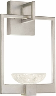 Fine Art Handcrafted Lighting 893550-1 Delphi Contemporary Silver LED Wall Light Sconce