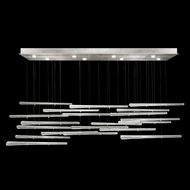 Fine Art Handcrafted Lighting 894840-132 Elevate Contemporary Silver Leaf LED Multi Hanging Light