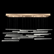 Fine Art Handcrafted Lighting 894840-232 Elevate Contemporary Gold Leaf LED Multi Drop Ceiling Lighting