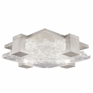 Fine Art Handcrafted Lighting 895440-21 Terra Contemporary Silver LED Flush Ceiling Light Fixture
