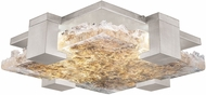 Fine Art Lamps 895440-22 Terra 895440-22 Silver / Highlighted Antiqued Gold Leaf LED Interior / Exterior Ceiling Lighting Fixture
