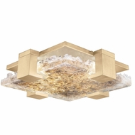 Fine Art Handcrafted Lighting 895440-32 Terra Contemporary Gold LED Overhead Light Fixture